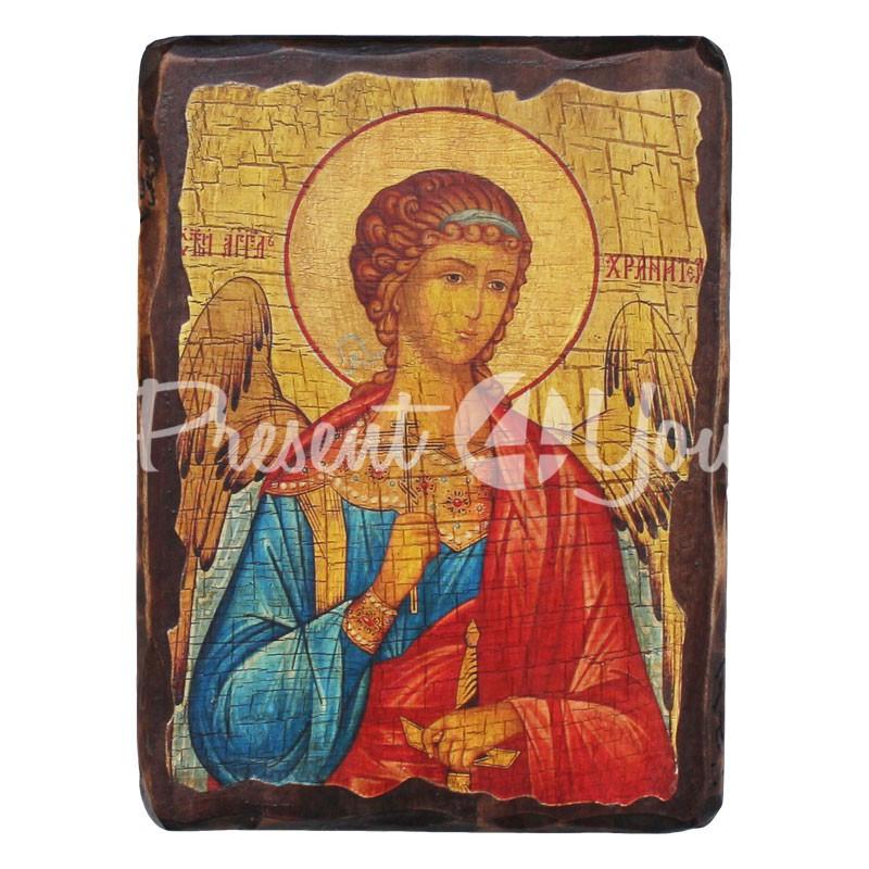 Деревянная икона Святого Ангела Хранителя, 17х23 см.