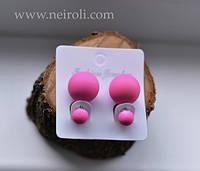 """Серьги """"Mise en Dior"""". Цвет розовый, матовый"""