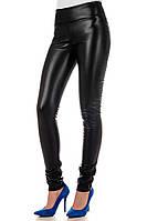 Женские кожаные леггинсы Irvik  L731 черный