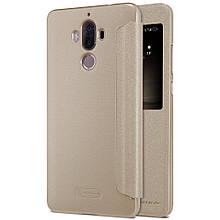 Чехол книжка Nillkin Sparkle Series Smart для Huawei Mate 9 золотой