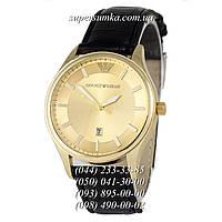 Модные мужские наручные часы Armani Black/Gold/Gold