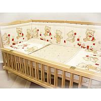 Защита в детскую кроватку Мишка игрушки 100% хлопок ТМ Медисон Украина