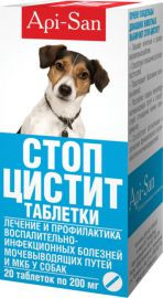 Стоп-цистит для собак (таблетки) Api-san