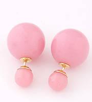 """Серьги """"Mise en Dior"""". Цвет светло розовый"""