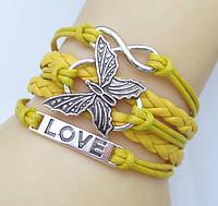 """Браслет  """"Love. Бабочка. Бесконечность"""""""
