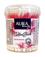Ватные гигиенические палочки Aura Beauty стакан - 100 шт.