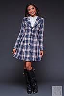 Пальто из теплого букле на подкладке, цвет пудра. Арт-9472/17