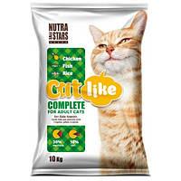 Nutra 5 Stars Cat Like Complete for Adult Cats – корм для взрослых кошек с курицей, рыбой и рисом 10кг