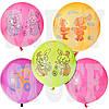 Воздушные шарики Gemar Панч-болл с рис. ассорти неон, 18' (45см) 50 шт