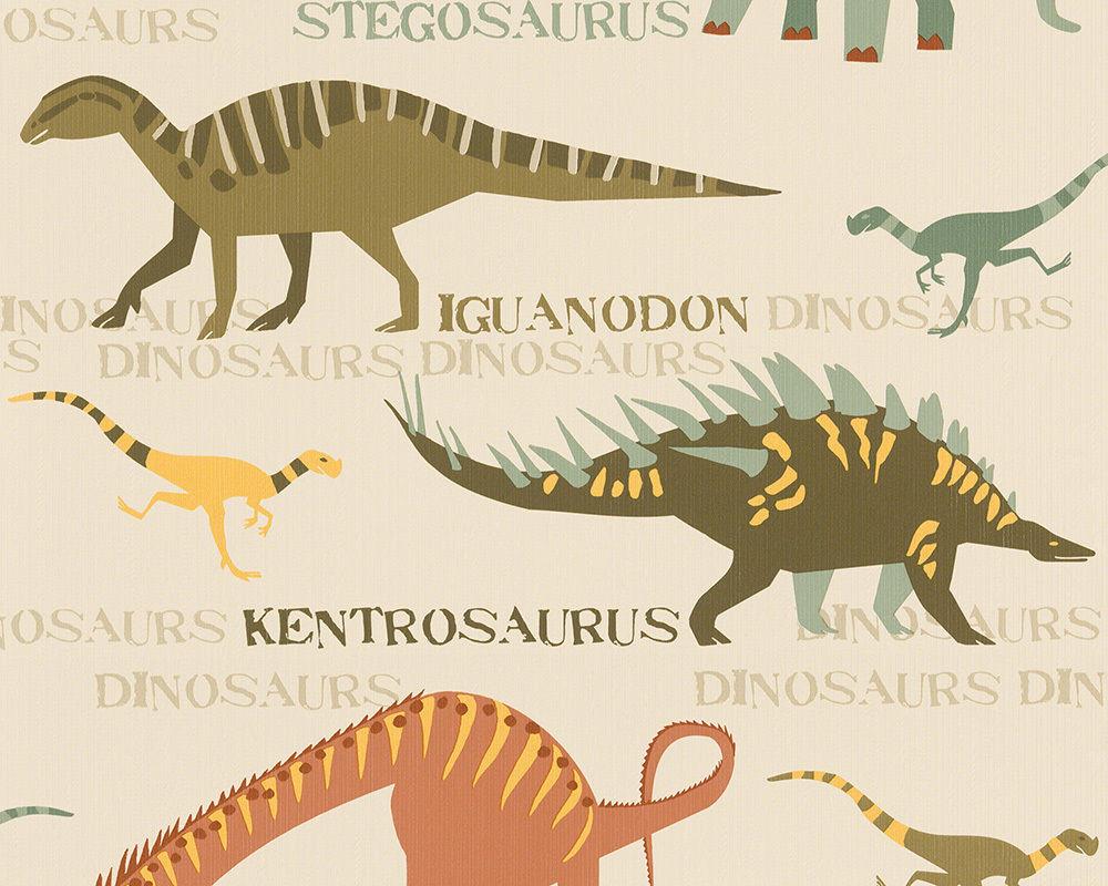 Плотные и прочные фактурные обои, бумажные для стен детской, 93633-1 динозаврики и дракончики