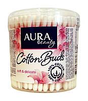 Ватные гигиенические палочки Aura Beauty стакан - 200 шт.
