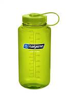Яркая спортивная бутылка Nalgene на 1000мл зеленая