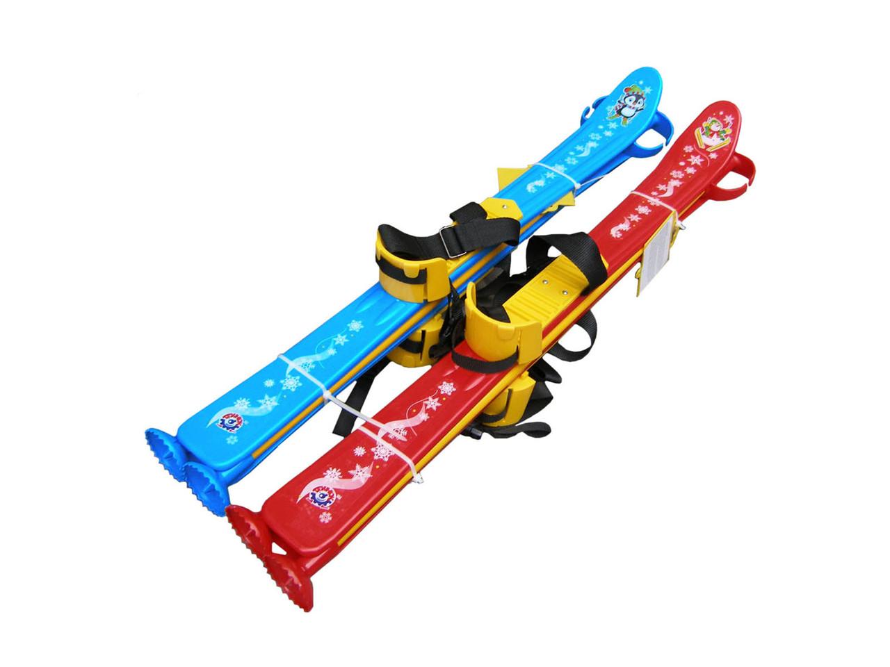 Лыжи детские с палками 77см