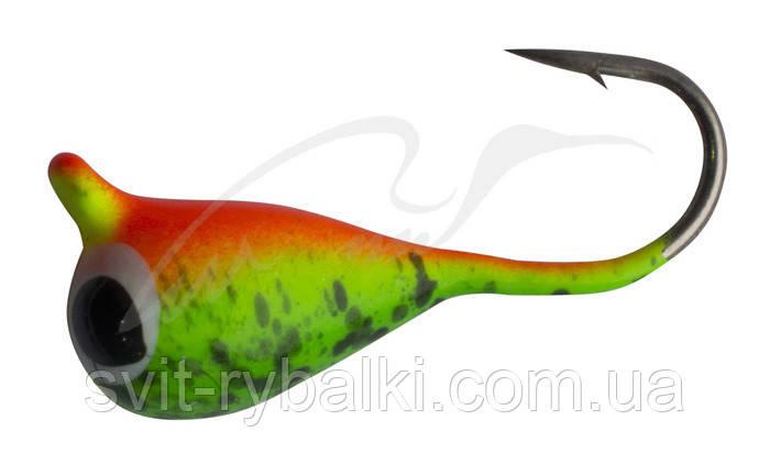 Мормышка вольфрамовая Shark Капля с ушком 1,9 гр. диам. 5,0 мм крючок D 12 ц: Mat Tiger с гл