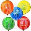 Воздушные шарики Gemar Панч-болл с рис. ассорти пастель 18' (45 см), 50 шт
