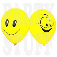 Воздушный шар светло-желтый Смайл 12'(30 см) 100 шт, фото 1