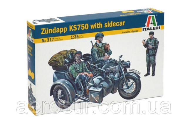 Zundapp KS750 with sidecar 1/35 ITALERI 317