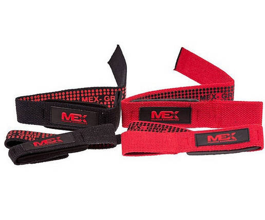 Подъемные ремни MEX Nutrition Pro Lift Lifting Straps Black, фото 2