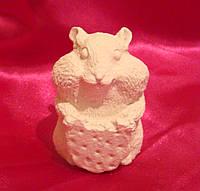 Гипсовая фигурка Хомяк с печеньем