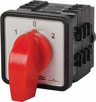 Пакетный переключатель LK25/4.322-ZP/45 щитовой, с передней панелью, 4p, 0-1-2, 25А
