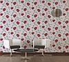 Миються німецькі шпалери з яскравими червоними квітами 292445 на кремовому тлі, вінілові на паперовій основі, фото 7