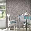 Сірі німецькі вінілові шпалери 294227, з візерунком листя і стебел рослин, тиснені під витонченого короїда, фото 8