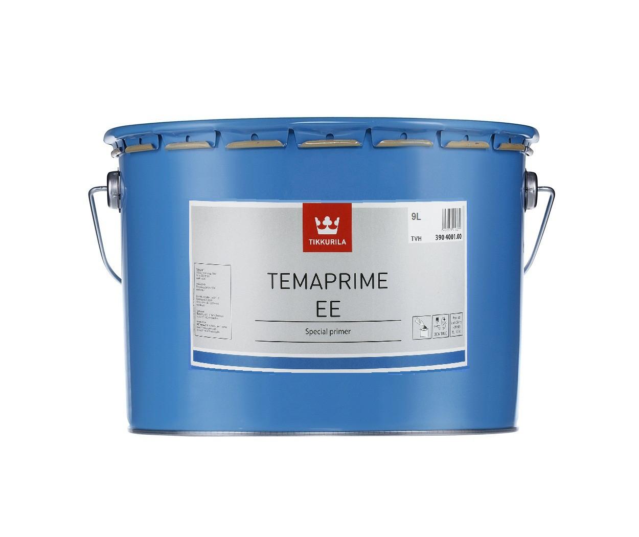 Грунт алкидный TIKKURILA TEMAPRIME ЕЕ антикоррозионный, TVH-белый, 9л
