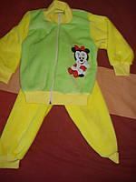 Детский махровый костюм минни маус для девочки, размер 30