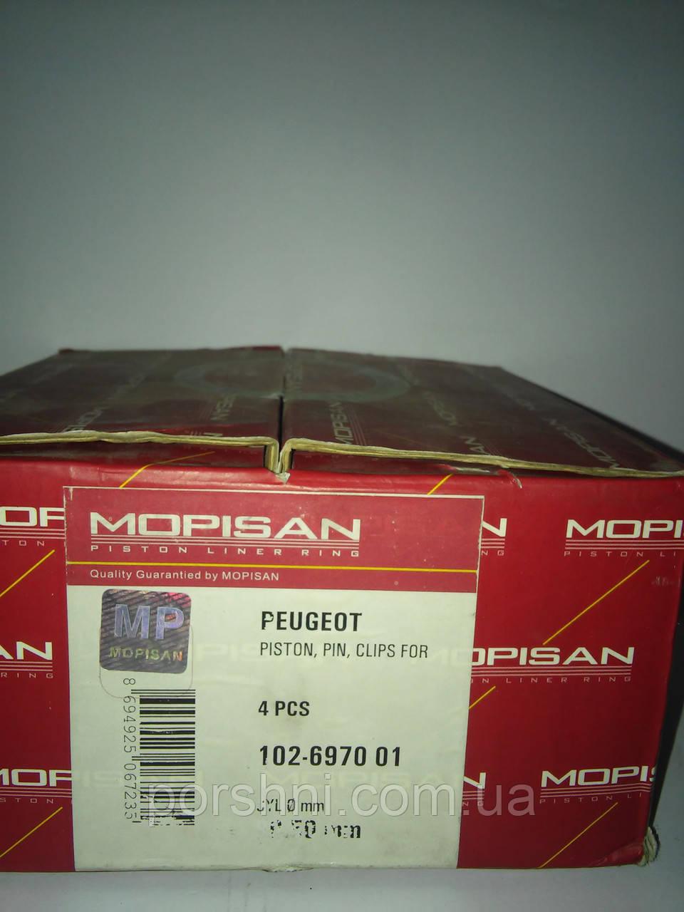 Поршни   Пежо     1769 т. д      ( 3 х 2 х 3 )  диам  80.5 Mopisan 697001