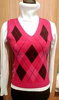 Женская вязанная жилетка. Афра