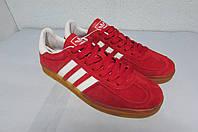 Мужские кроссовки Adidas футзал (1045-5) красный код 0502 А