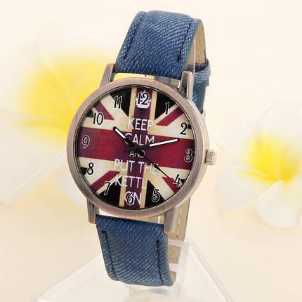 Кварцевые наручные часы на джинсовом ремешке Britania Rock Lite Blue, фото 2