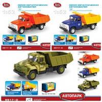 "RUS Модель грузовик PLAY SMART 6517-B/-C/-D ""Автопарк"" метал.инерц.3в.откр.дв.кор.16,1*6,1*8,4 ш."