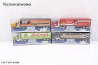 RUS Модель трейлер PLAY SMART 6390-1 спец.транспорт метал.4в.пласт.24*4*8 ш.к./192/
