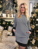 Платье с манжетами и кармашками