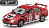 """Модель легковая 5"""" KT5048W MITSUBISHI LANCER EVOLUTION VII WRC метал.инерц.откр.дв.1:36 кор./96/"""