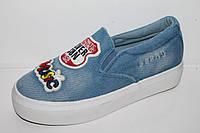 Джинсовые подростковые слипоны. Спортивная подростковая обувь кеды от фирмы Tom.m 0194B (8пар 33-38)