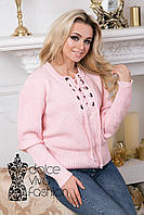 Пуловер женский на шнуровке, фото 1