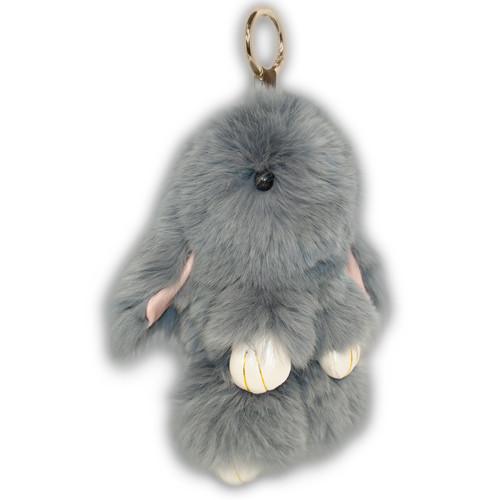 Меховой брелок кролик, длина 20 см, KB01