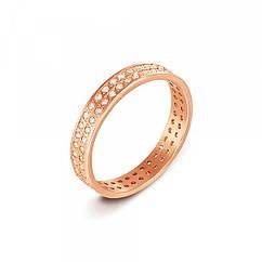 Золотые обручальные кольца с фианитами
