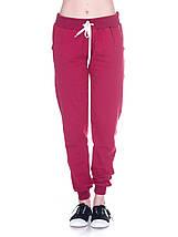 Штаны женские спортивные на флисе, бордо, фото 3