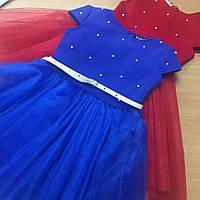 Платье с жемчугом на поясе