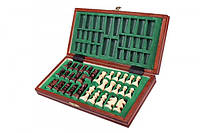 Деревянные шахматы «Дорожные на магнитах» 30см, фото 1