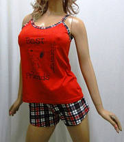 Пижама хлопковая женская майка и шорты. Размеры от 42 до 50, фото 3