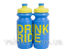 Фляга 0,6 Green Cycle Drink & Ride с Big Flow valve, LDPI blue nipple/ yellow matt cap/ blue matt