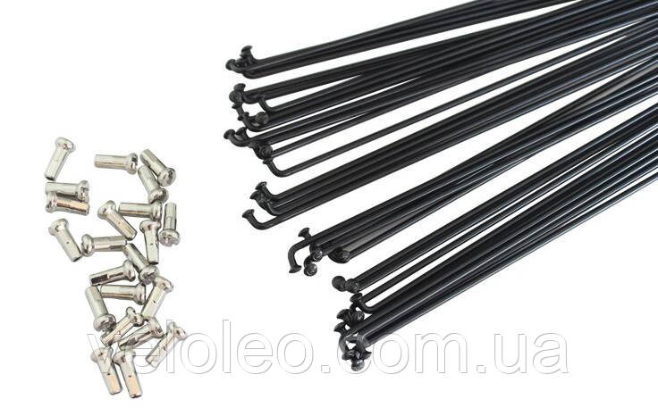 Спиці 280 мм (чорні) SLE