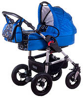 Детская коляска универсальная 1 в 1 Tako Jumper X небески - квадрат (без прогулочного блока)