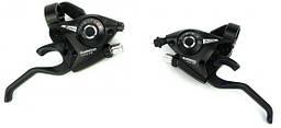 Манетки 8 Shimano TOURNEY ST-EF51 +тросик. (пара) срібні