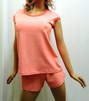 Пижама женская футболка с шортами хлопок