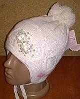 Теплые шапки для девочек на флисе